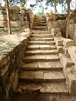 Ayia Triada: steps up to the court of shrines