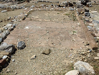 Zakros: paving in the Minoan town